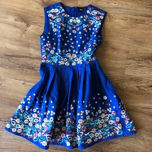 ASOS Dresses - ASOS Blue Beaded Embroidered Dress Size 6